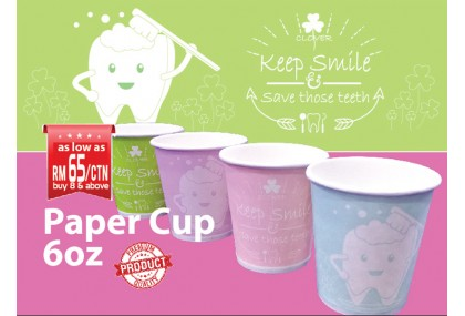 Paper Cup 6oz, Keep Smile Series